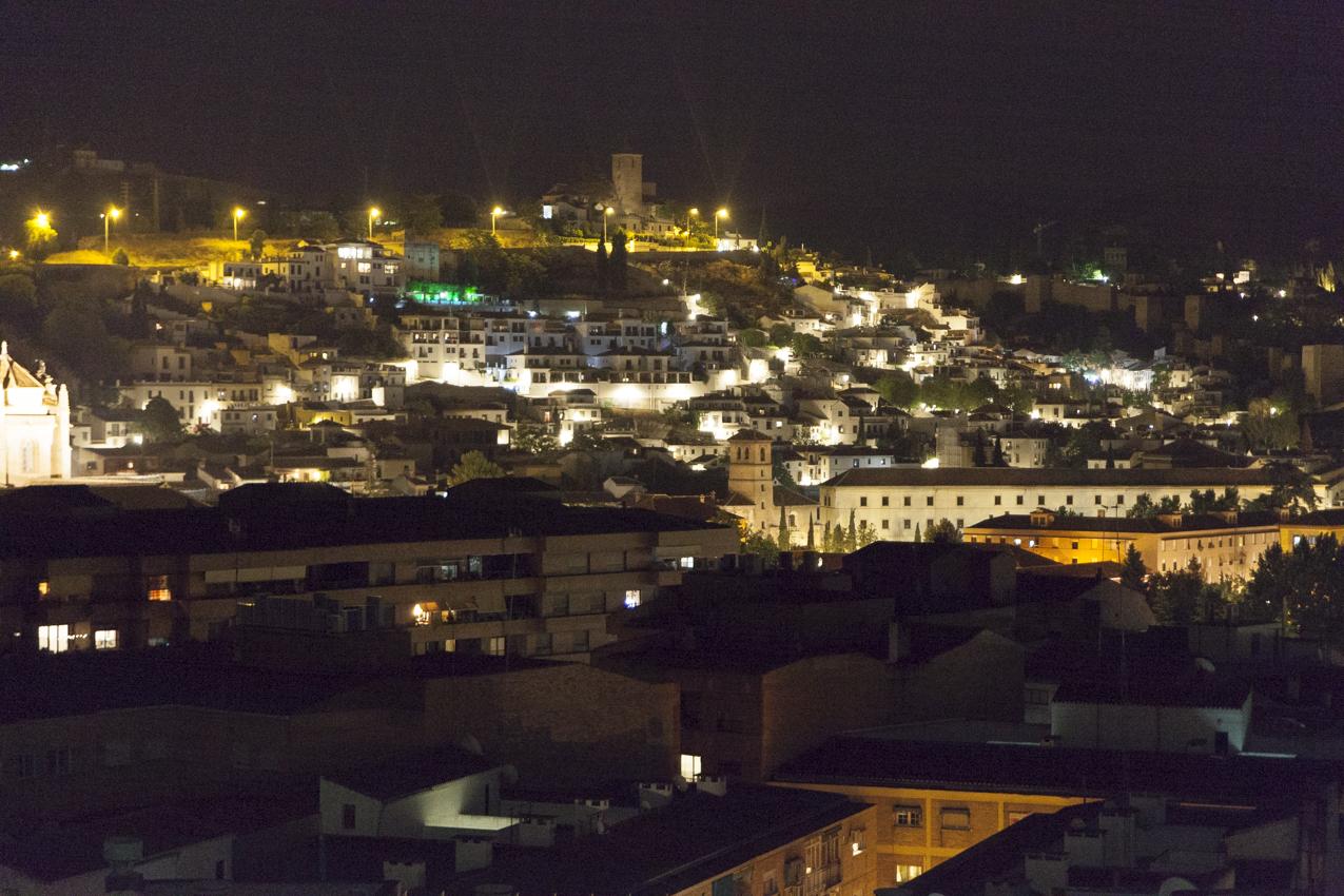 Granada - Alhambra vista notturna
