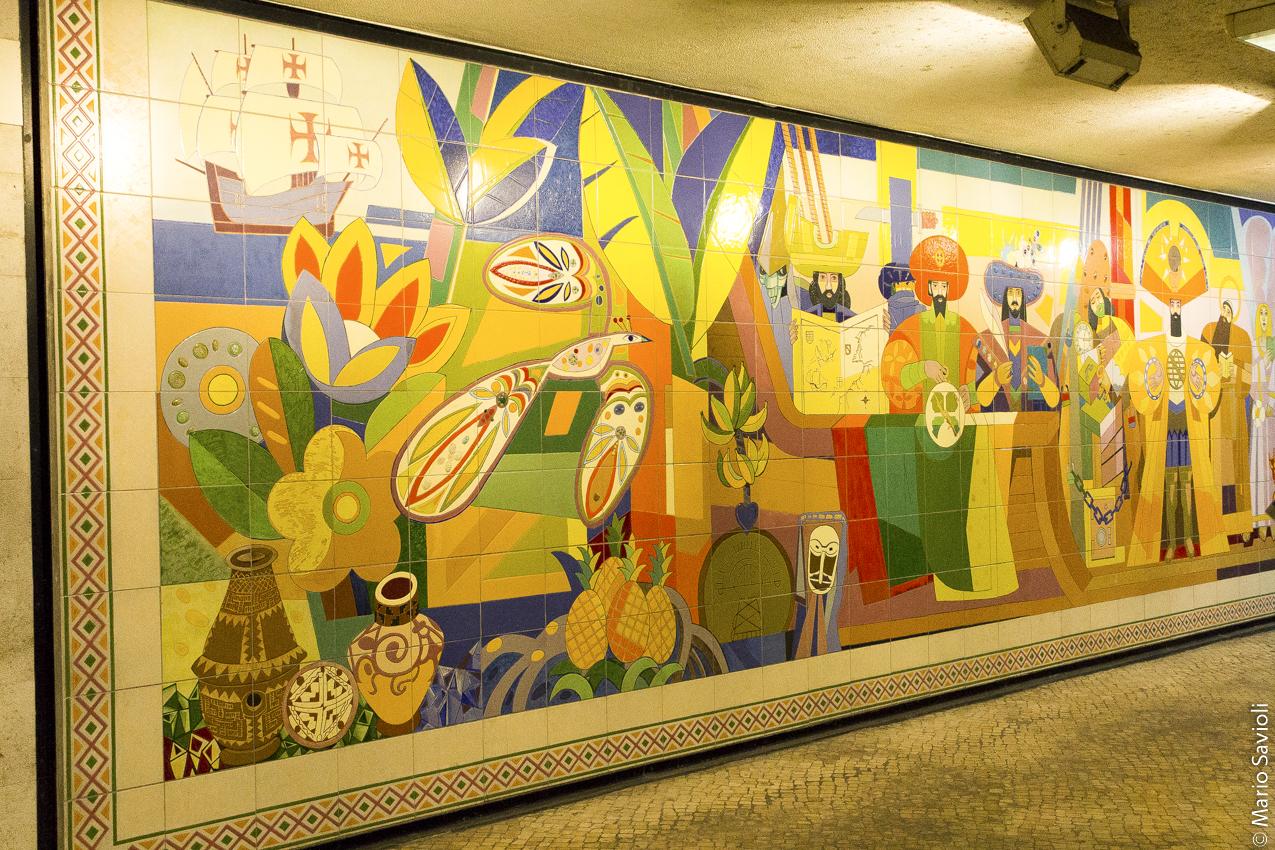 Lisbona al metro
