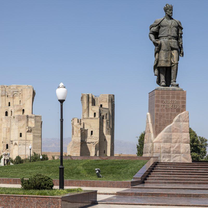 Uzbekistan: Shakhrisabz, palazzo Ak-Saray e Samarcanda